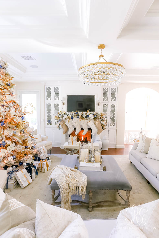 christmas mantel elegant Christmas decor