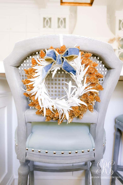 white gold Christmas wreath