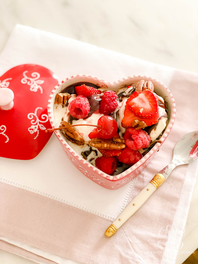 Valentine's Day Heart Brownie Sundae Recipe