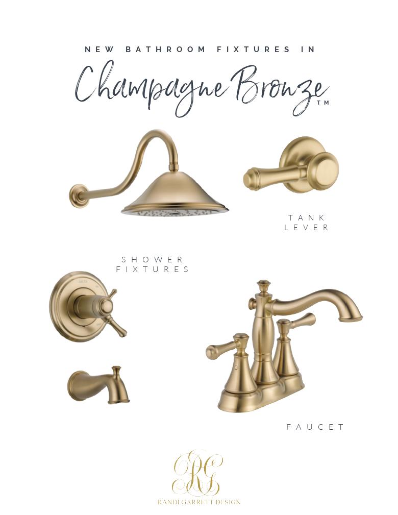 champagne bronze bathroom fixtures bathroom remodel