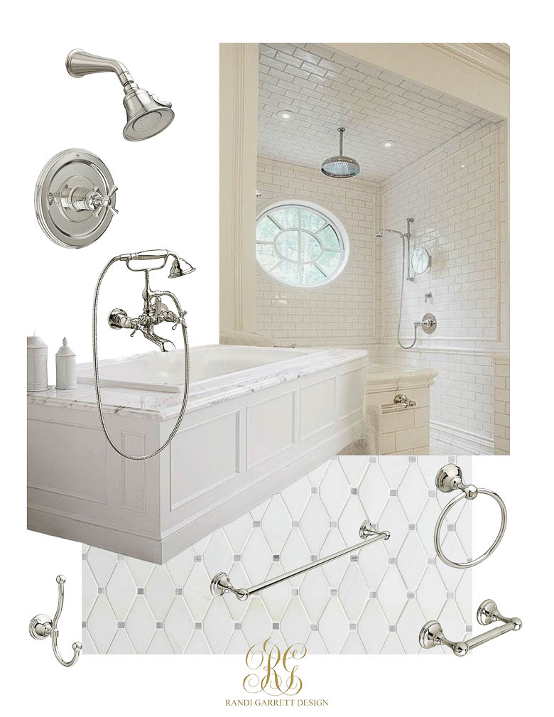 classic white bathroom white subway tile tile wainscoting