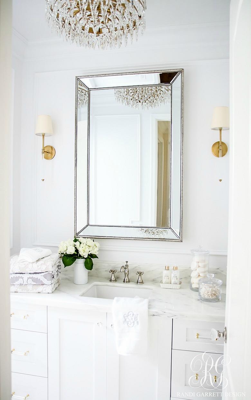 White powder bath