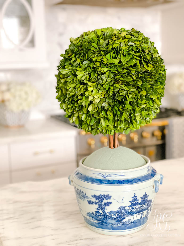 Preserved Boxwood Ginger Jar Topiary Tutorial