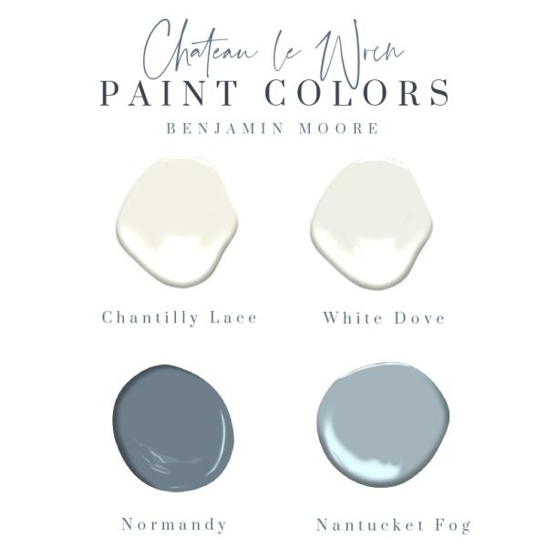 Chateau Le Wren Paint Colors
