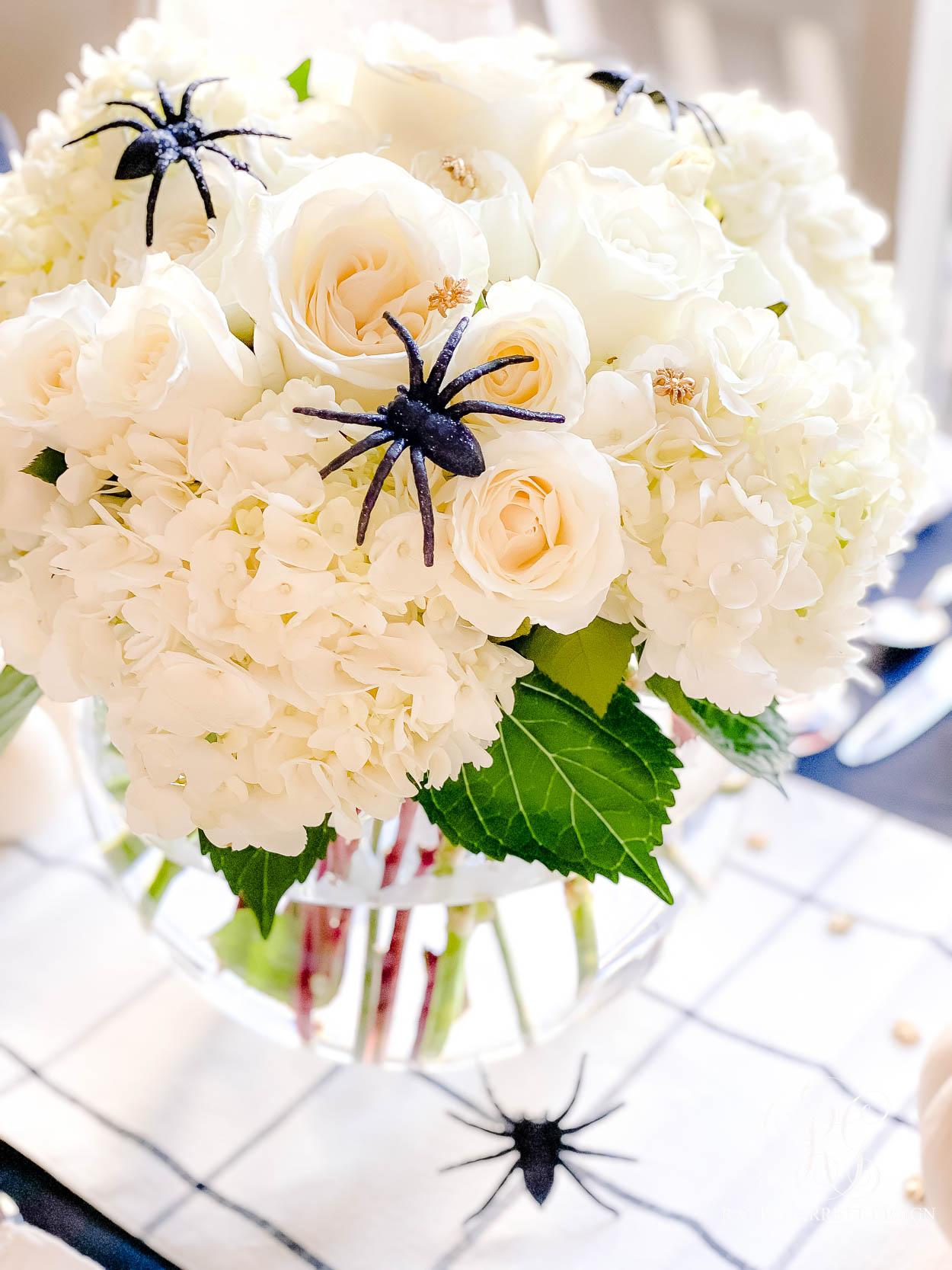 Beware Halloween Table halloween floral arrangement